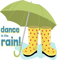 Dance Rain vector image