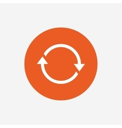 Rotation icon repeat symbol refresh sign vector