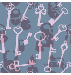 Seamless pattern with padlocks and keys vector