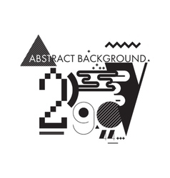 Minimal abstract background black and white vector