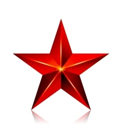 Achievement star red sign decoration vector