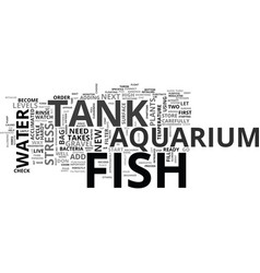 Aquarium care text word cloud concept vector