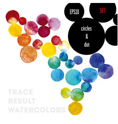 background watercolor circles vector image vector image