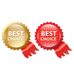 Best Choice Labels vector image vector image