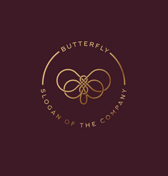 Butterfly logo beautiful decorative vector