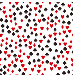 card suit pattern seamless game background vector image