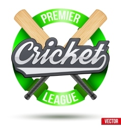 Cricket sport label vector