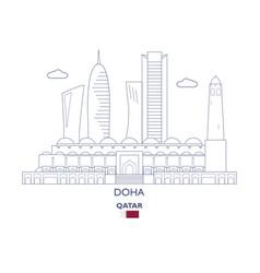 doha city skyline vector image vector image