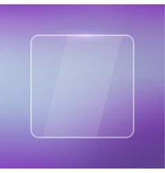 Glowing glossy glass panel with a blurred vector image vector image