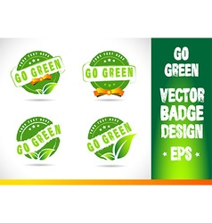 Go green badge logo vector