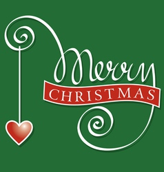 hand lettering merry christmas vector image vector image