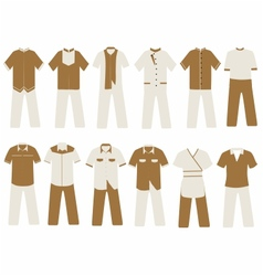 Hotel and villa uniform vector