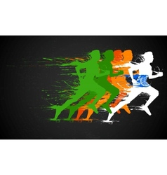 Indian Runners vector image vector image