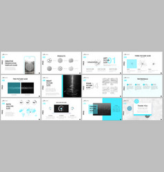 minimal presentation templates tech elements vector image