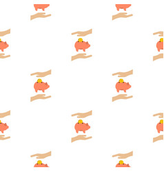 Money box pattern flat vector