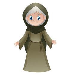 Old woman in medieval clothes vector