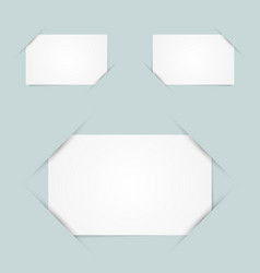 Paper holders vector image vector image