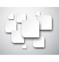 Paper white notes vector image vector image