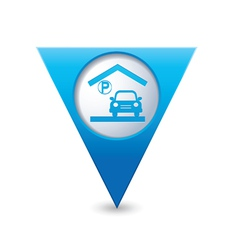 parking under roof icon map pointer blue vector image