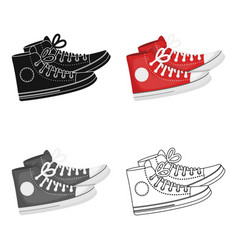 Red gumshoes icon in cartoon style isolated on vector