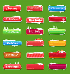 set of chrtistmas buttons vector image