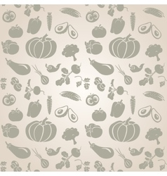 Set of vegetables Seamless vector image vector image