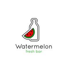 Smoothie bar minimalistic logo vector