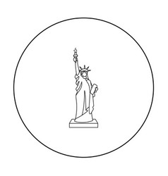 Statue of liberty icon in outline style isolated vector