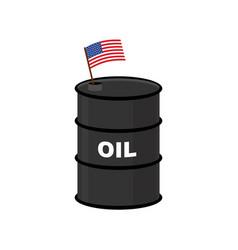 Usa barrel oil america petroleum business vector