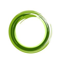 Zen symbol abstract green ink brush vector