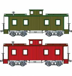caboose vector image