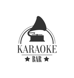 Vintage music player karaoke premium quality bar vector