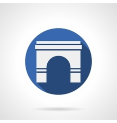 Wall archway blue round icon vector