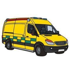 Present yellow ambulance vector