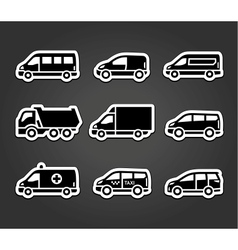 Set of sticky stickers transport signs vector