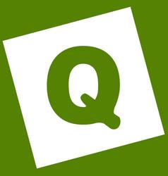 Letter q sign design template element vector