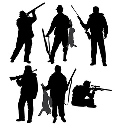 Hunter silhouette vector