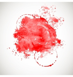 Red splash on white background vector