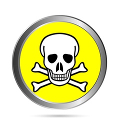 Poison sign button vector