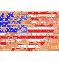 Grunge United States Flag vector image