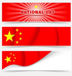 1st october china national day web headers vector