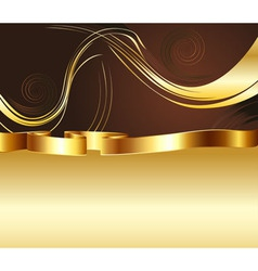 Brown and gold background2 vector