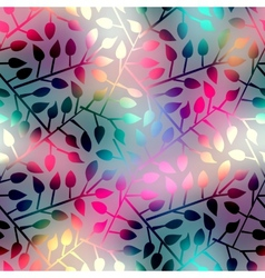 Leaves geometric pattern vector