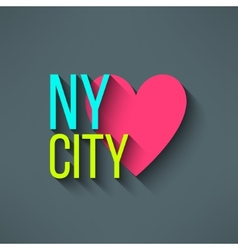 New york city love t-shirt design logo and vector