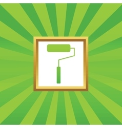Paint roller picture icon vector