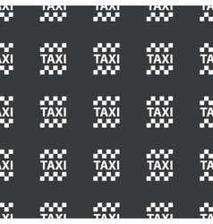 Straight black taxi pattern vector