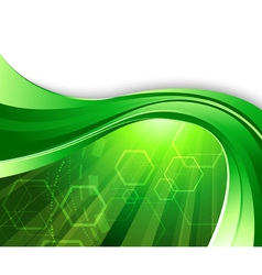 Bright green technology vector
