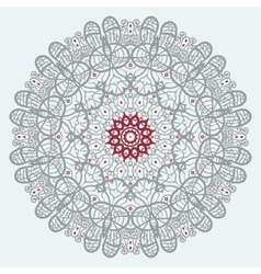 Mandala print in red and grey color vector