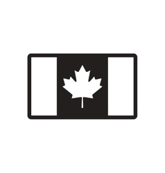 Stylish black and white icon canadian flag vector