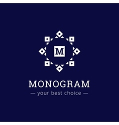 Elegant simple monogram logo geometric vector